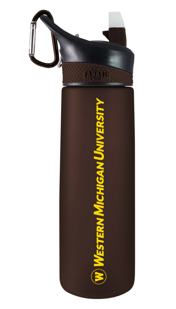 Western Michigan 24oz. Frosted Sport Bottle - Primary Logo & Wordmark