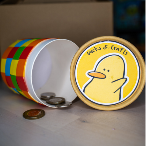 craft coin bank colourful