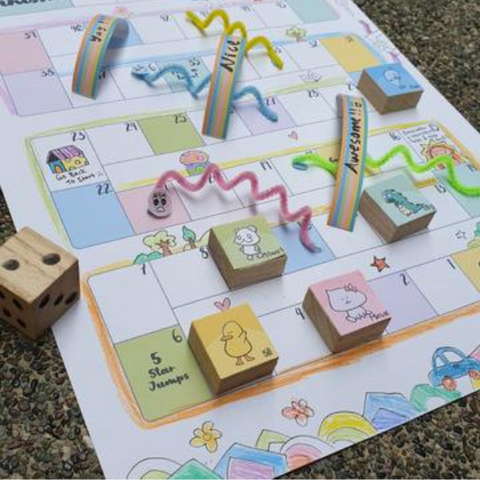 craft board game snakes and ladders