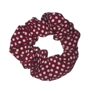 Red Polka Dot Pouch Scrunchie