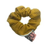 Mustard Cotton Pouch Scrunchie