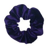 Purple Velvet Pouch Scrunchie
