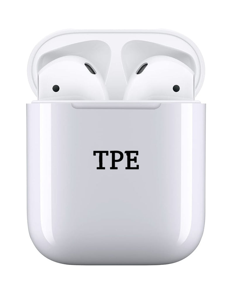 TPE Personalised White Earbuds