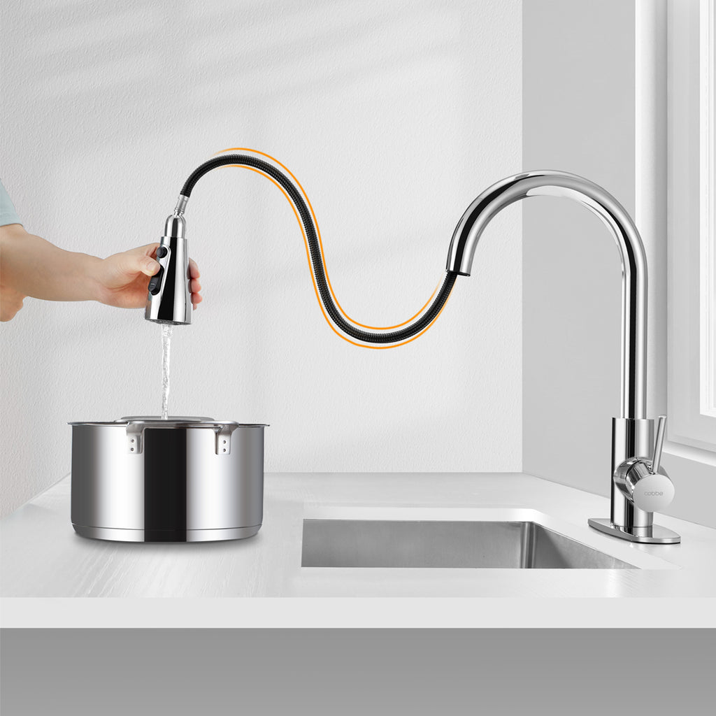 How to install Cobbe Pull Down Kitchen Faucet?---------KC05A01,KC05A02
