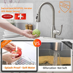 High Pressure Kitchen Sink Faucet with pull-down Spray Head