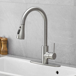 Kitchen Sink Faucet with Pull-down Sprayer