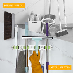 Easy install Mop and Broom Wall Mounted Hanger