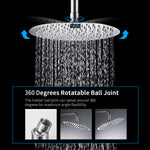 Ultra-thin High Pressure Boosting Rain Shower head
