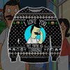 Bob's Burgers KNITTING PATTERN 3D PRINT UGLY CHRISTMAS SWEATER
