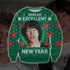 BILL & TED'S EXCELLENT ADVENTURE KNITTING PATTERN 3D PRINT UGLY SWEATER