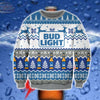 BUD LIGHT KNITTING PATTERN 3D PRINT UGLY SWEATER
