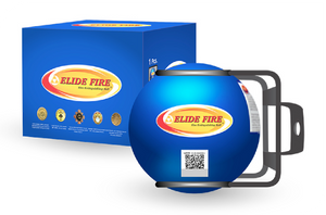 "ELIDE FIRE® Extinguishing 4"" Ball Blue (Engine Room Bracket)"