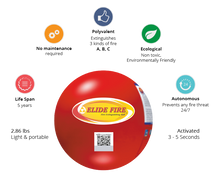 "Load image into Gallery viewer, ELIDE FIRE® Extinguishing 4"" Ball (Standard Bracket)"