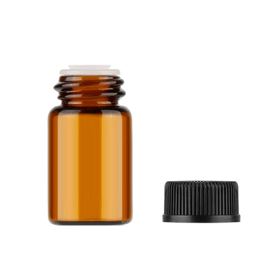 Mini Amber Glass Bottle | Essential Oil Reagent Amber Bottle with Screw Cap