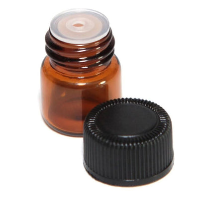 Mini Amber Bottle for Essential Oil | Refillable Amber Bottles with Orifice Reducer