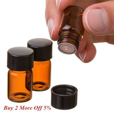 Essential Oil Mini Amber Bottle | Amber Bottle with Orifice Reducer Cap