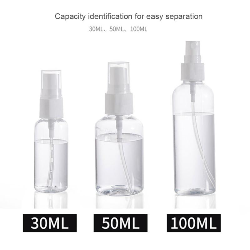 Refillable Plastic Spray Bottle | Transparent Fine Mist Pump Bottle