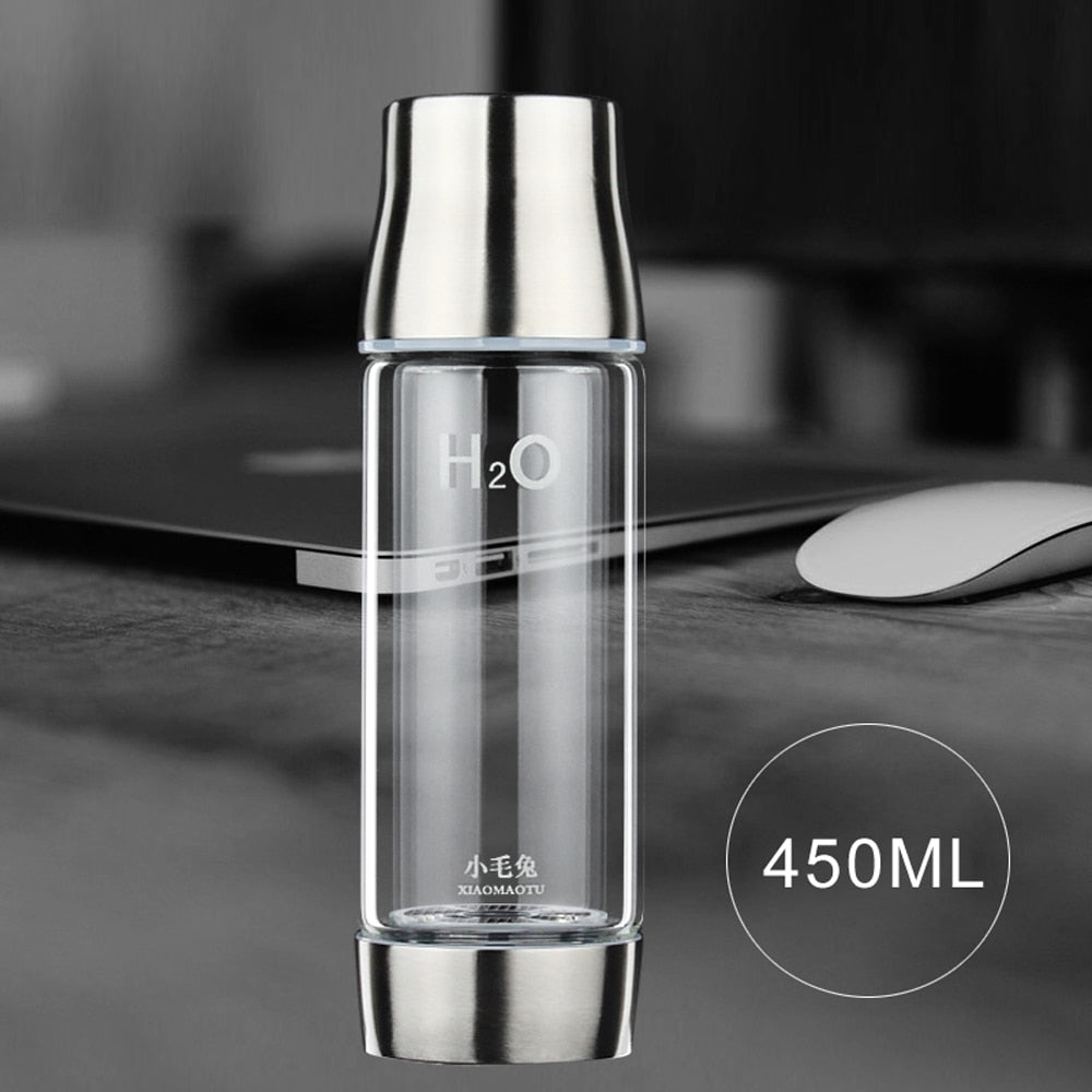 Smart Touch Hydrogen Water Ionizer Bottle | Portable Hydrogen Water Maker with Self-Cleaning Lid