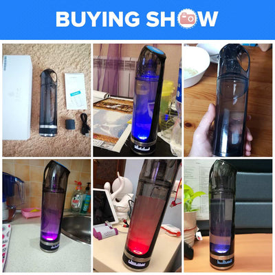 AUGIENB Hydrogen-Rich Water Ionizer Bottle | Alkaline Water Generator Bottle with LED Display