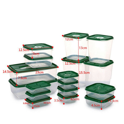 Thick Plastic Food Storage Box | Portable Space-Saving Rectangular Food Containers