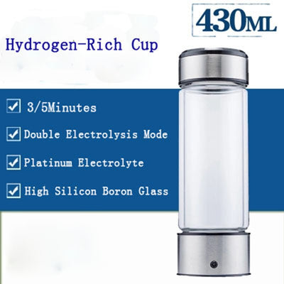 Hydrogen Water Generator Bottle | Rechargeable Alkaline Water Maker Cup