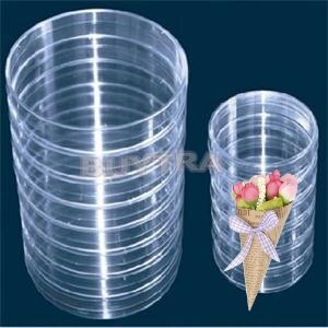 Sterile Plastic Petri Dishes with Lids | Disposable Petri Plates for Microbial Testing