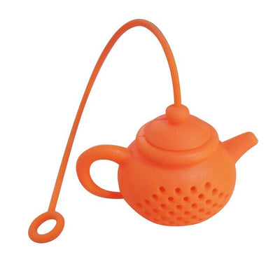 Teapot Shape Tea Infuser Strainer | Silicone Tea Bag Strainer for Leaf Diffusion