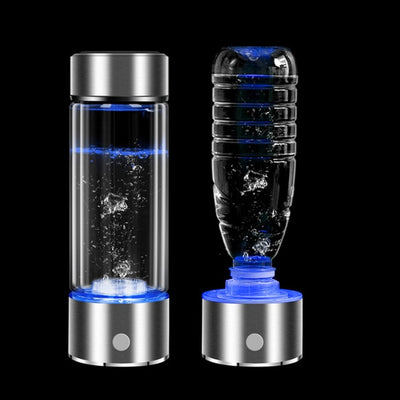 SPE/PEM Rich Hydrogen Water Generator | Alkaline Water Ionizer Bottle with LED Display