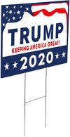 RightWingDepot Yard Sign for Trump President 2020 Double Side UV Print with H-Frame Lift in Your Garden Outdoor Waterproof