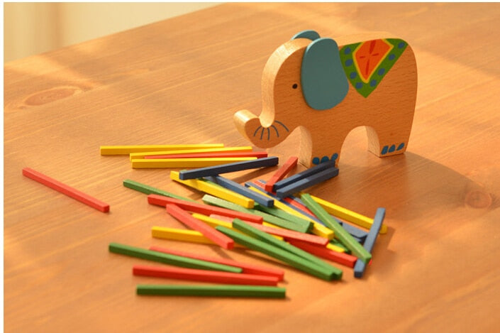 Wooden Elephant Balancing Toy