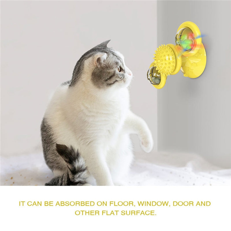 INTERACTIVE SPINNING CAT TOY