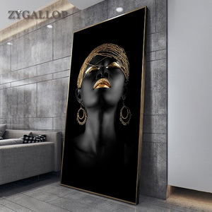 Opera Modern Art Canvas Painting African Black Woman Posters