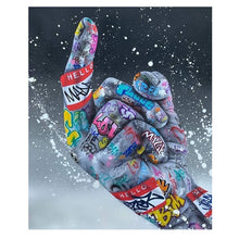 Load image into Gallery viewer, Opera Street Graffiti Art Canvas Painting Lover Hands Art