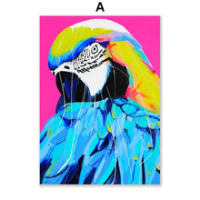 Load image into Gallery viewer, Opera Colorful Flamingo Zabra Elephant Animal Wall Art Canvas