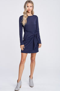 Hannah Ribbed Tie Dress