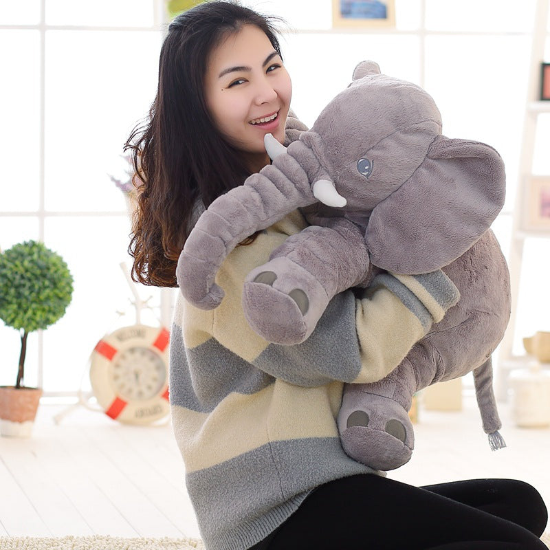 Plush Elephant Comfort Pillow