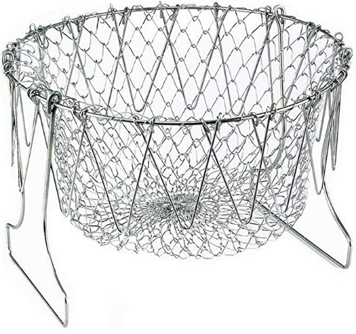 Stainless steel folding Fry Basket