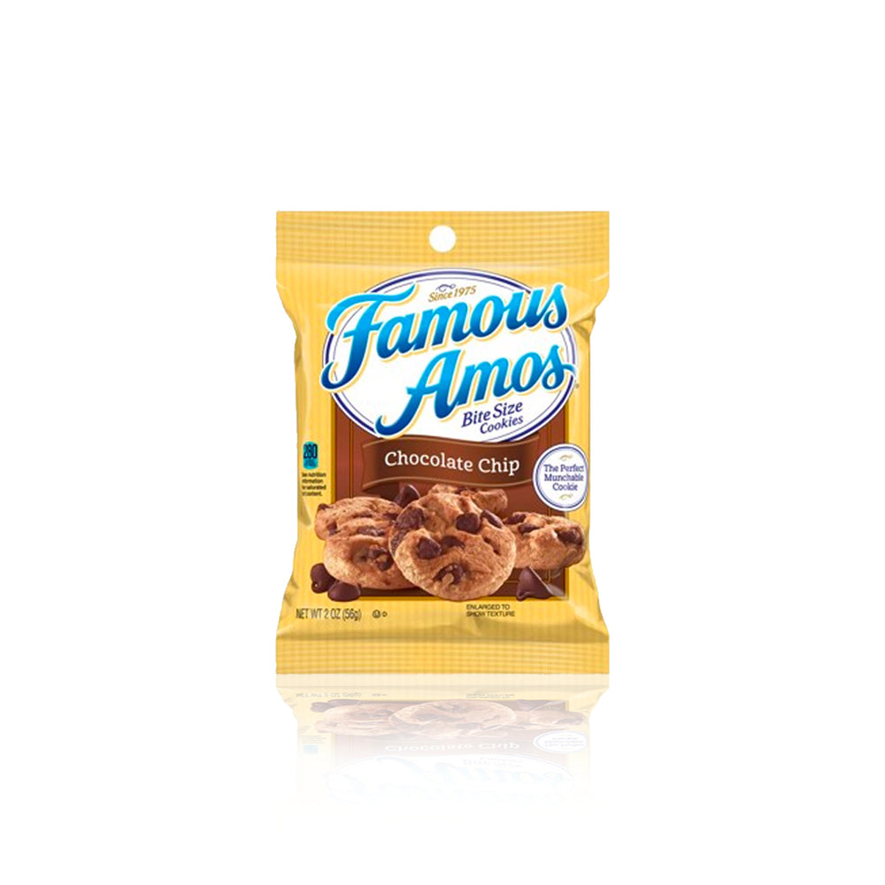 Famous Amos Choc Chip Bite Size Cookies 56g