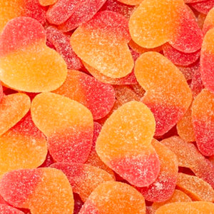 Load image into Gallery viewer, Fizzy Peach Hearts 100g