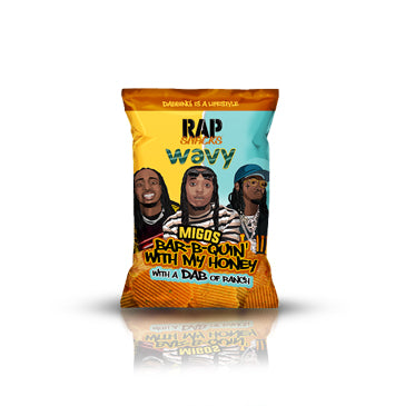 Rap Snacks Wavy Migos - Bar-b-Quin' with my honey with a dab of ranch (crisps) 78g