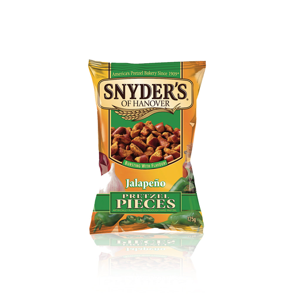 Load image into Gallery viewer, Snyders Jalapeño Pretzels 125g