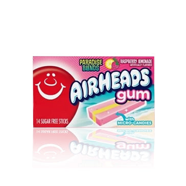 Airheads Raspberry Lemonade Gum 34g