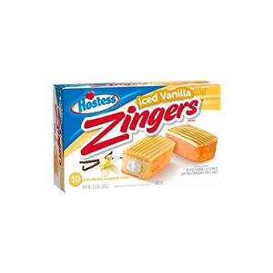 Load image into Gallery viewer, Hostess Iced Vanilla Zingers x2 cakes
