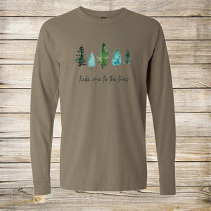 TAKE ME TO THE TREES COMFORT COLORS UNISEX TEE