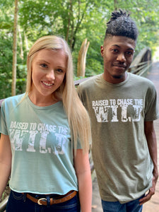 RAISED TO CHASE THE WILD TRIBLEND TEE