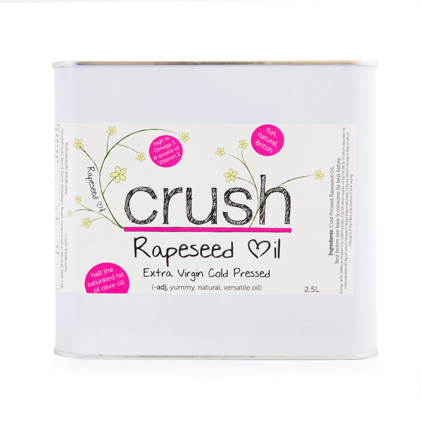 2 x Crush Cold Pressed Rapeseed Oil 2.5 Litre Tins [SPECIAL OFFER]