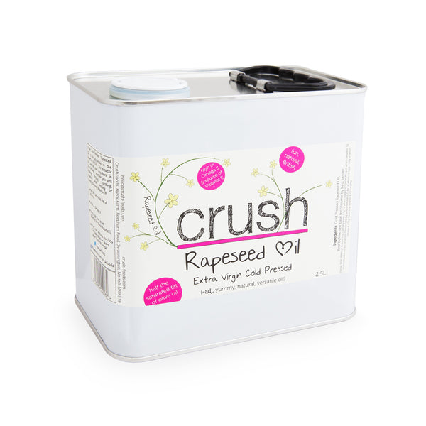 Crush Cold Pressed Rapeseed Oil 2.5L Tin - Crush Foods