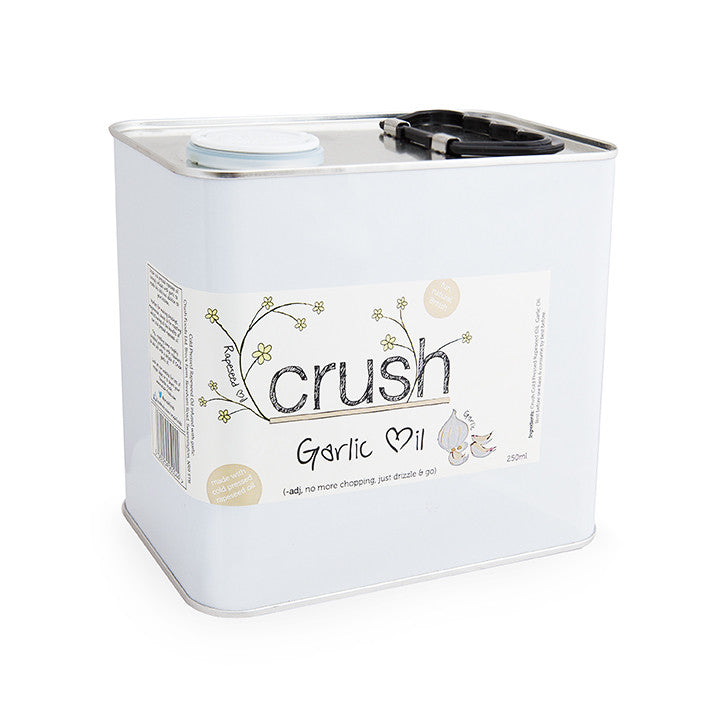 Crush Cold Pressed Rapeseed Oil 2.5L Tin - Garlic Infused - Crush Foods