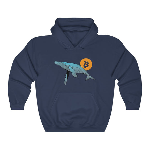 Bitcoin Whale Unisex Heavy Hooded Sweatshirt - More colors