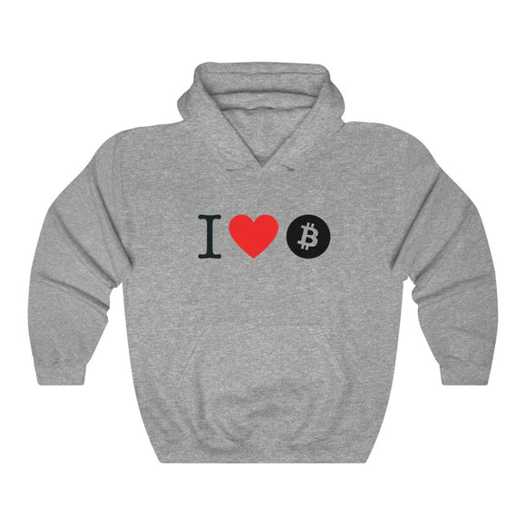 I Heart Bitcoin Unisex Heavy Hooded Sweatshirt - More colors